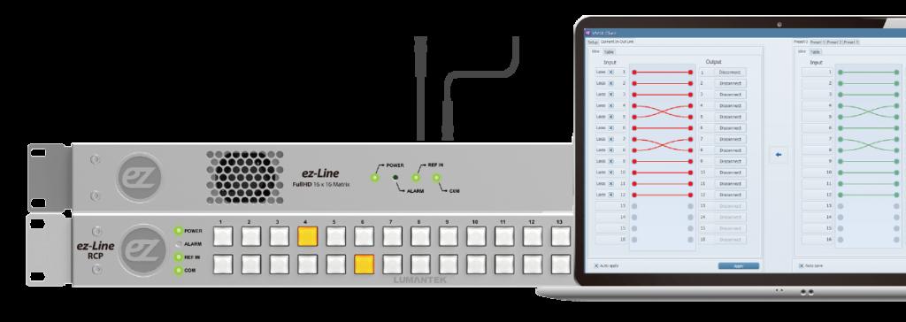 ez-VM16 line router control panel
