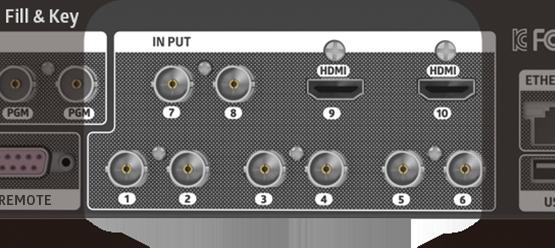 ez-VS10 switcher fill and key any port