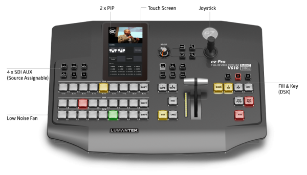 ez-VS10 vision mixer Lumantek